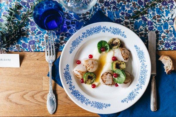 Shooting d'inspiration pour Un Beau Jour By Chloé cuisine en vert & Nabie dit oui Madame Artisan Fleuriste & Jean-Laurent Gaudy Photography http://www.chloecuisine.com/