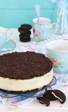 Mejor receta de Cheesecake de oreo, con chocolate blanco, fría. Muy fácil, rápida y deliciosa.