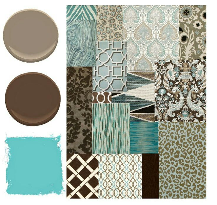 Browns and teal paint colors for new home pinterest - Bathroom color schemes brown and teal ...
