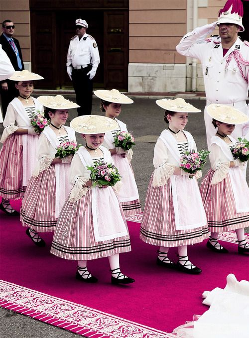 the super cute flower girls at the wedding of prince