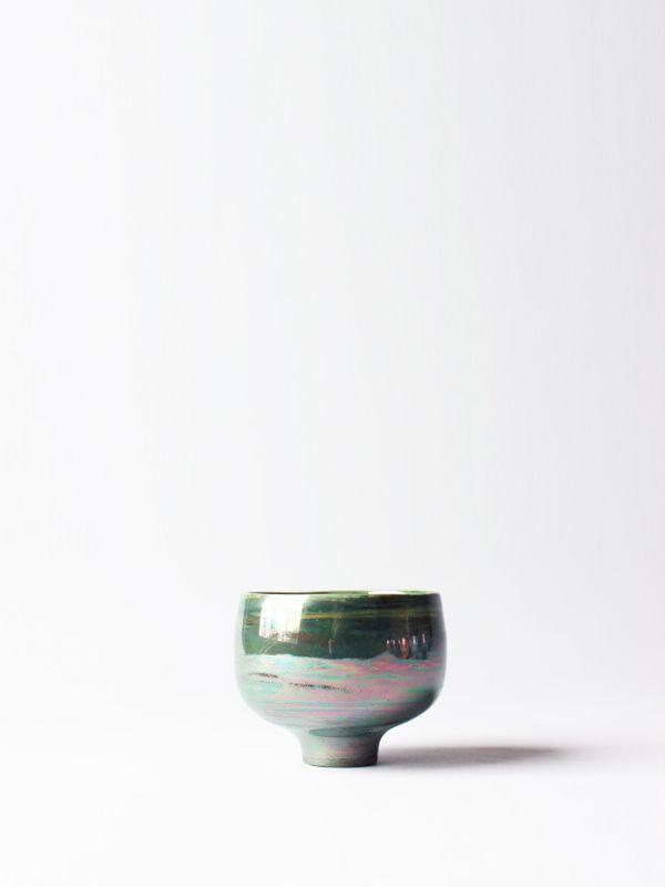 Bright Green Sake Cup - RYOTA AOKI POTTERY ONLINE STORE