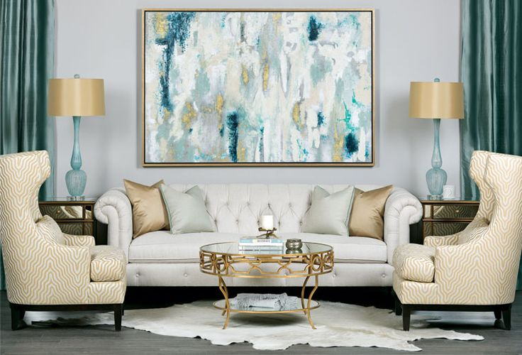 sea glass inspired living room hellolovelylivingcom 2