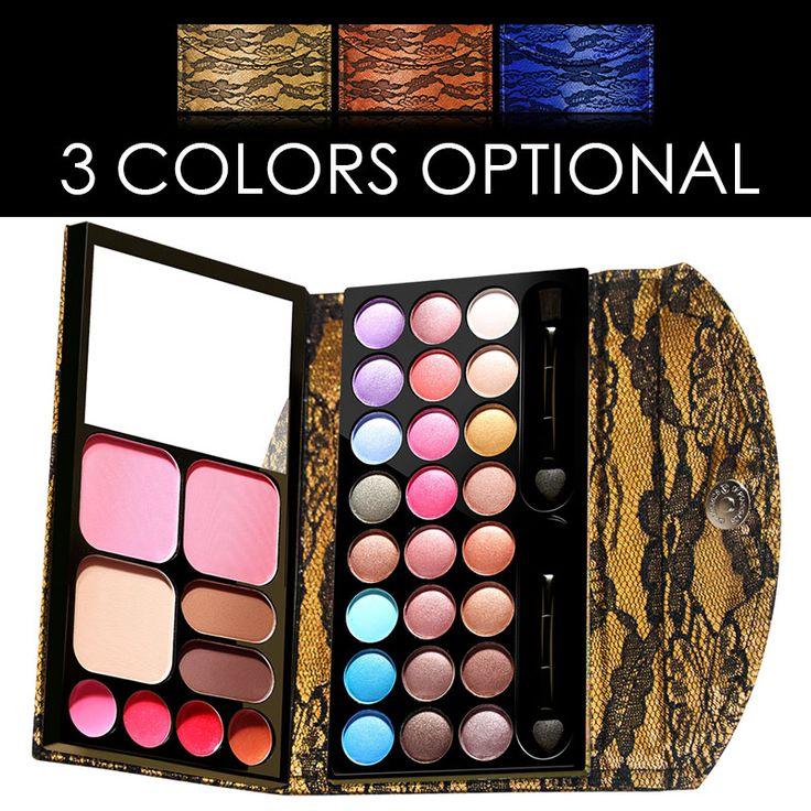 LaceTrimmed 33 Kleuren Natuurlijke oogschaduw Palet Oogschaduw Shimmer Matte Maquiagem Concealer Cosmetische Langdurige Makeup Set