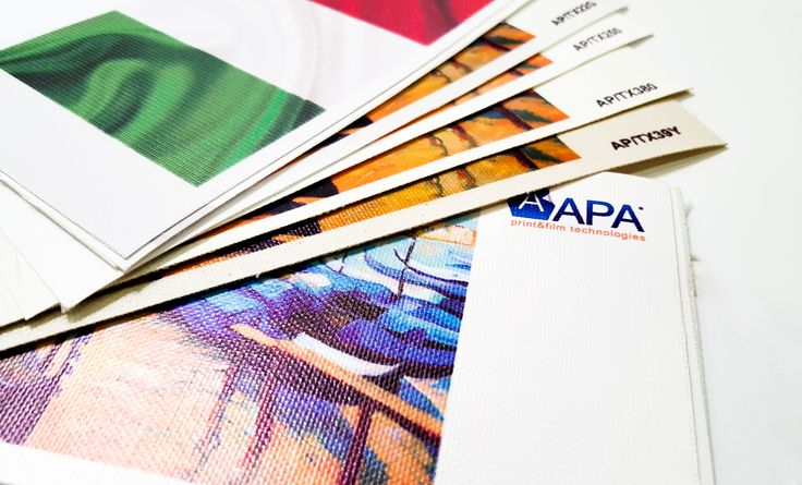 APA vi invita a scoprire le ultime novità della linea APATextile: nuovi tessuti canvas sintetici e nuove tele pittoriche, la soluzione ideale per quadri stampati, banner, poster e roll-up di altissimo pregio. APA invites you to discover the newest products of APATextile's line: new tissues and synthetic canvas, the perfect solution for top-notch paintings boards, banners, posters and roll-up. #digitalprint #apaprint #apatextile #apainside #printsolution #printbanners #printcanvass