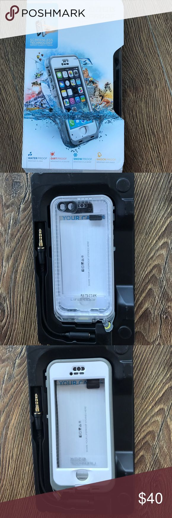 iPhone 5/5s life proof case white Only used for one week in Hawaii. White life proof case for iPhone 5/5s Accessories Phone Cases