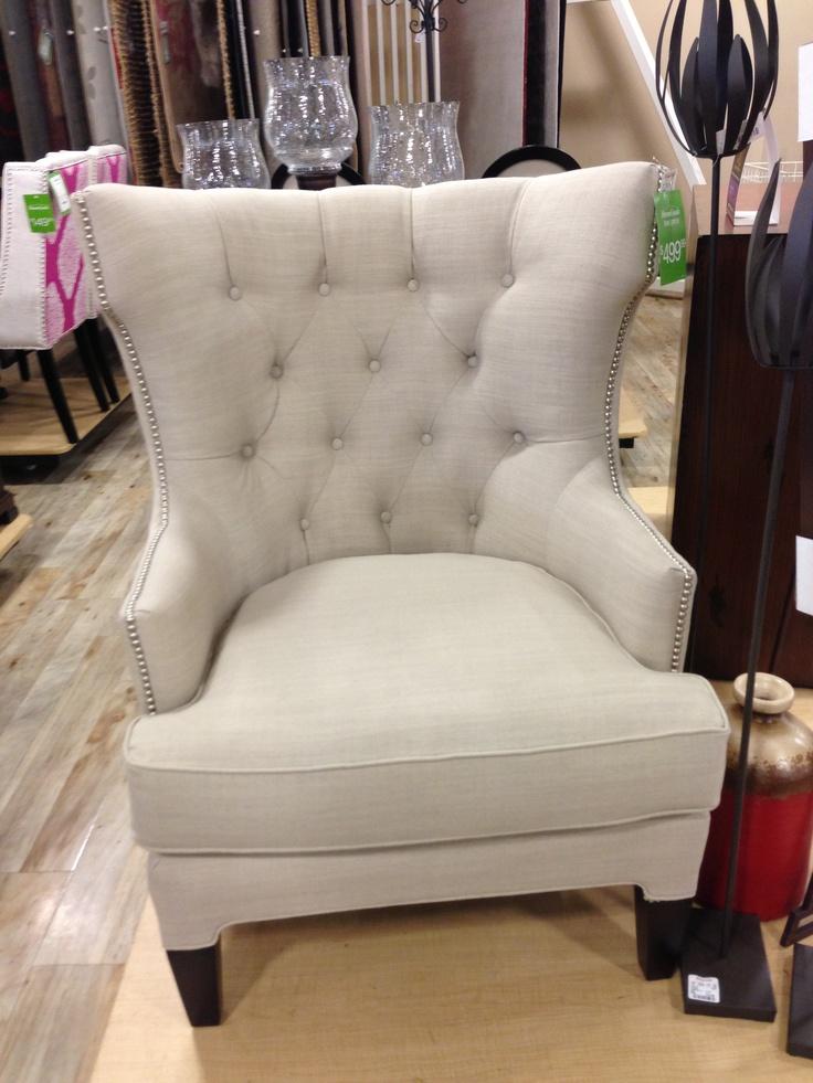 White Upholstered Tufted Chair Home Goods 500 00 Home