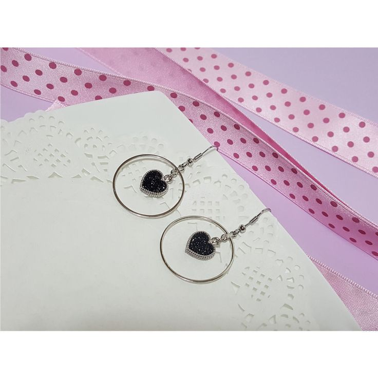 Korean Fashion Jewelry Dot Heart Ring Earring for Women Girls Ladies #Rielar #Hook
