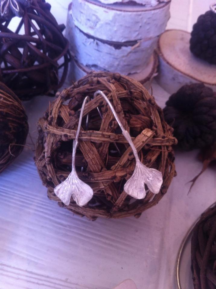 Magdalena Smee Ginko earrings https://www.facebook.com/magdalenasmeejewellery