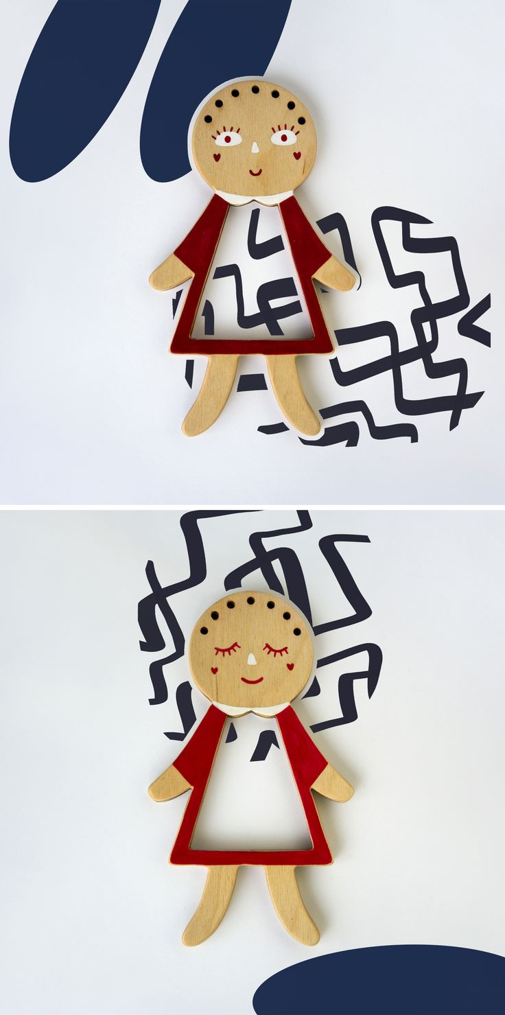 Tata. Telepapu wooden doll