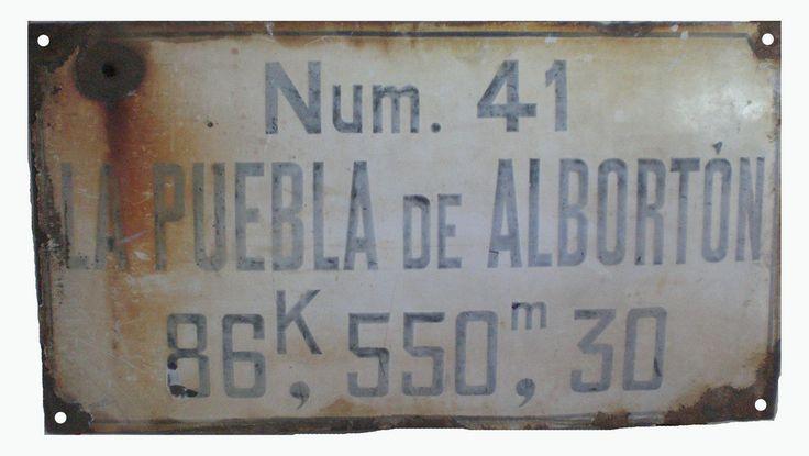 Ferrocarril Utrillas Zaragoza Placa La Puebla de Albortón | por M.F.U.