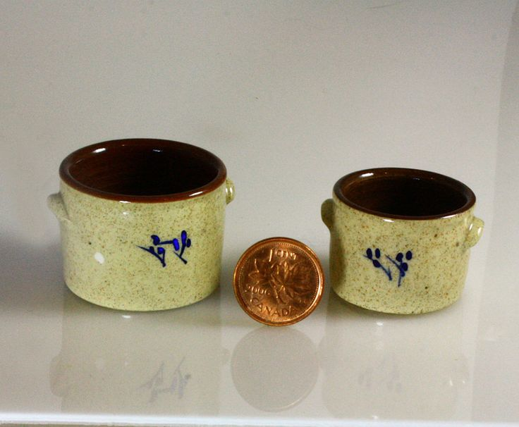 1/12 scale stoneware pickle crocks. $1660 each USD  Hand thrown pottery https://shop.smallscaleshowcase.com/index.php?route=product/product&path=60_89&product_id=226