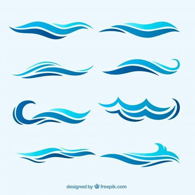 Abstract Wave Pack Free Vector Free Vector Freepik Vector Freeabstract Freewater Freewave Freesea Abstract Waves Wave Drawing Waves Icon