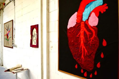 Influence art exhibition | Cheshire | UK  Feltism - Lucy Sparrow  www.artinmacclesfield.co.uk