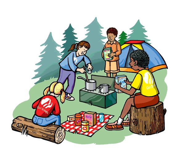 Girl Scout Camping Clipart For Those New To