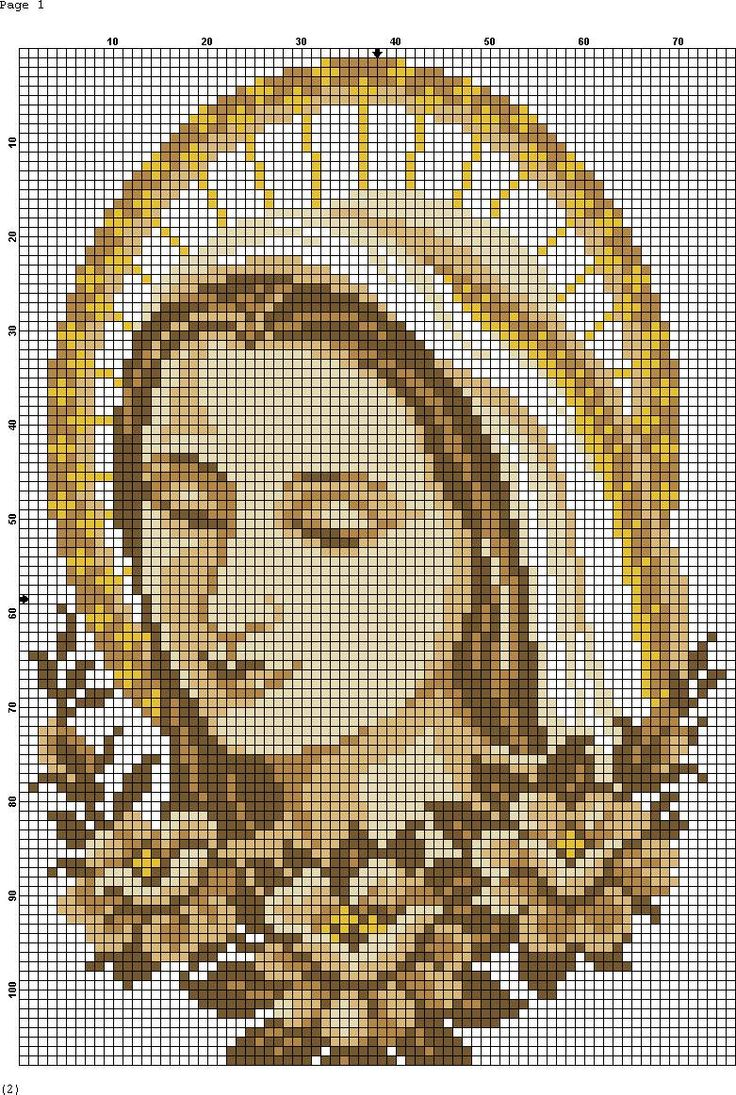 Virgin Mary Madona cross stitch