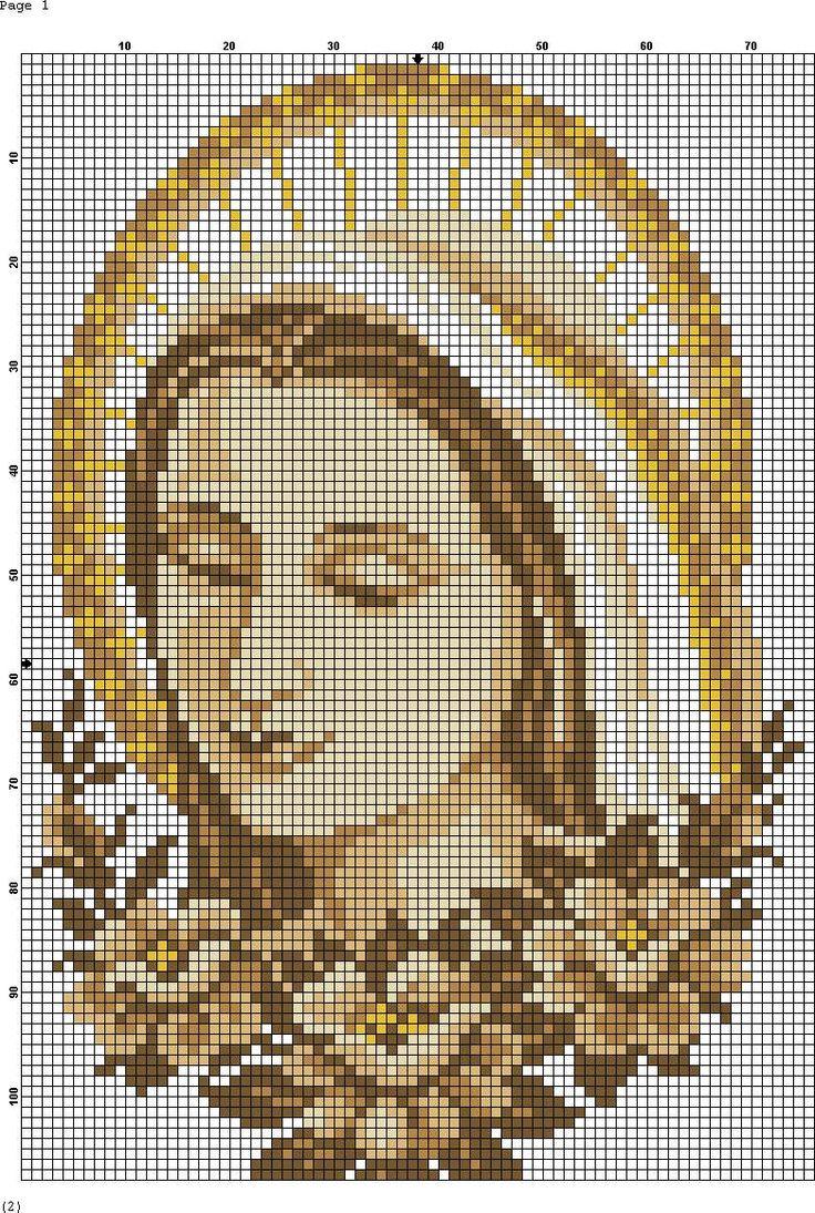 Virgin Mary Madona cross stitch