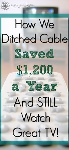 The cost of TV is outrageous, yet so many people pay their bill not knowing there is another option.  Find out how we cancelled satellite TV and lived to tell the tale!