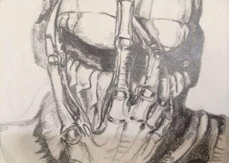 Pencil copy of H R Giger by Ella Sapsford