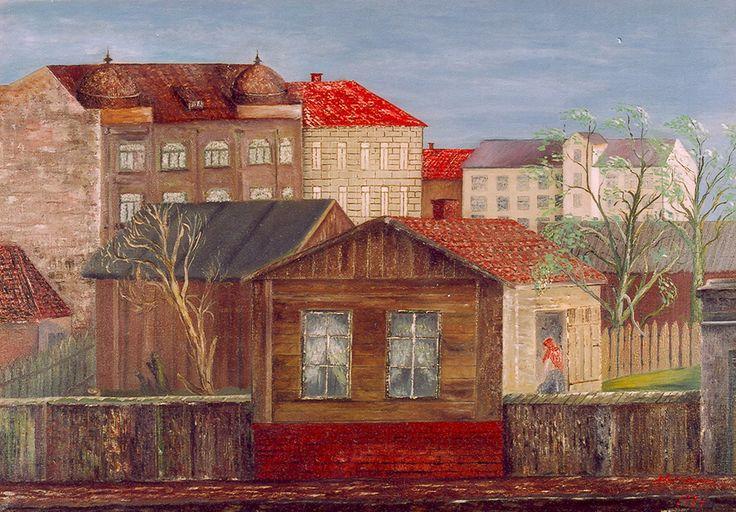 Pilsētas ainava / Alberts Silzemnieks / Audekls, eļļa / 69×98 / Gads – 1924.
