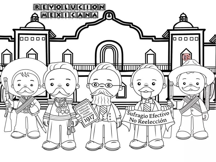 Dibujos Para Colorear 20 Noviembre Preescolar: Más De 25 Ideas únicas Sobre Revolucion Mexicana Dibujos