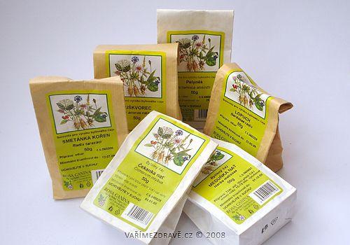 bylinky (cajove smesy) na podporu traveni a pro slinivku