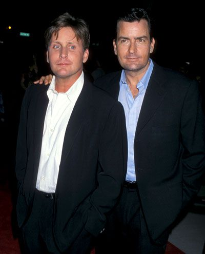 Charlie Sheen  Emilio Estevez  #actors #charliesheen #emilioestevez