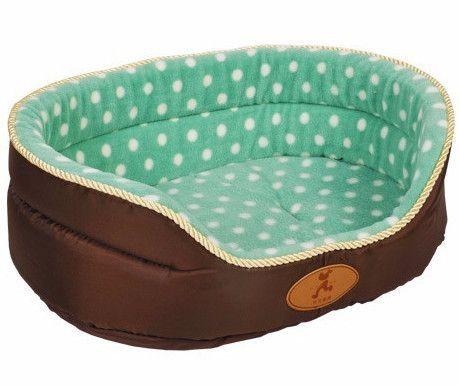 Plush Oval Shape Dog Bed