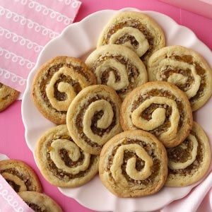 Apricot Pinwheel Cookies Recipe -My grandmother always made these cookies for the holidays. The recipe has been passed down through generations to me, and now from me to you. — Robert Logan, Clayton, California