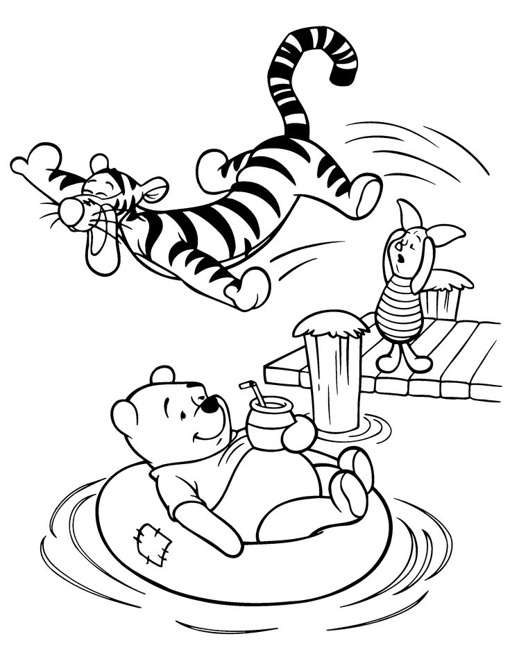 76 best hobby colouring pages winnie the pooh & friends images on ... - Disney Baby Piglet Coloring Pages