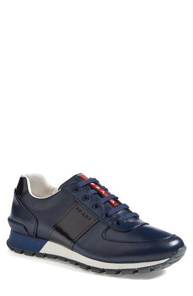 http://yrt.bigcartel.com Prada Leather Sneaker (Men) available at #Nordstrom