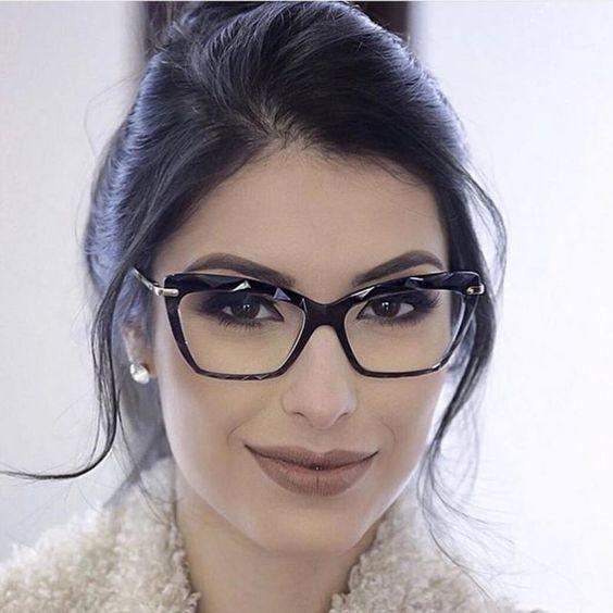 Como Fazer Maquiagem Para Usar Com Oculos Oculos Feminino