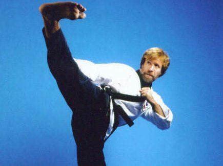Chuck Norris invented the first c-section by round house kicking his way out of his mother's womb