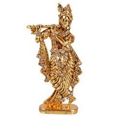 Golden Table top Krishna Swarovski