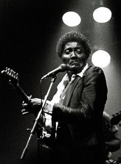 Albert Collins, Master of the Telecaster ! Daft , camp snap of truly great musician.