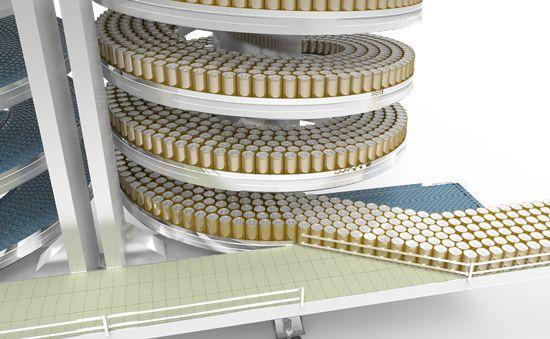 spiral accumulating conveyor