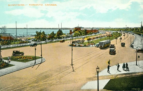 What Sunnyside looked like before the Gardiner arrived Postcard