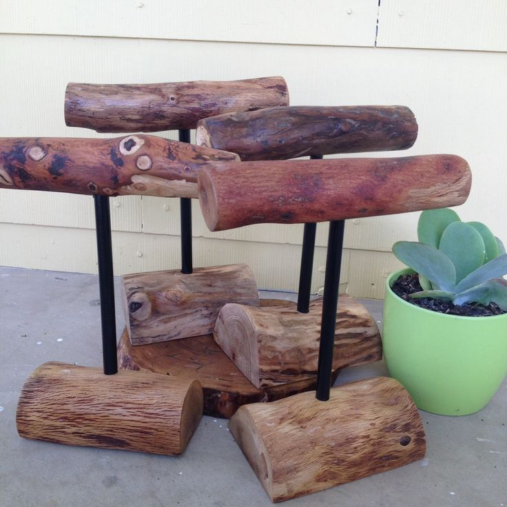 Some of the best jewelry stands! Hand made using recycled wood from the Texas Hill Country by Nature Bound