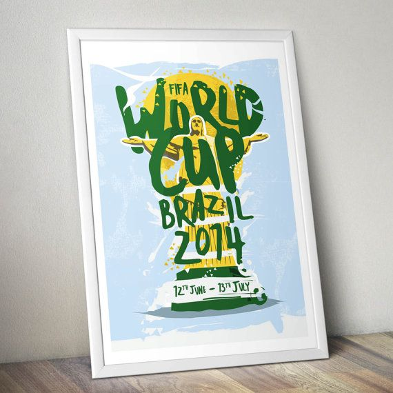 FIFA World Cup 2014 Print on Etsy, $20.83