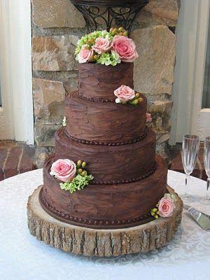 CHOCOLATE Wedding Cake!!