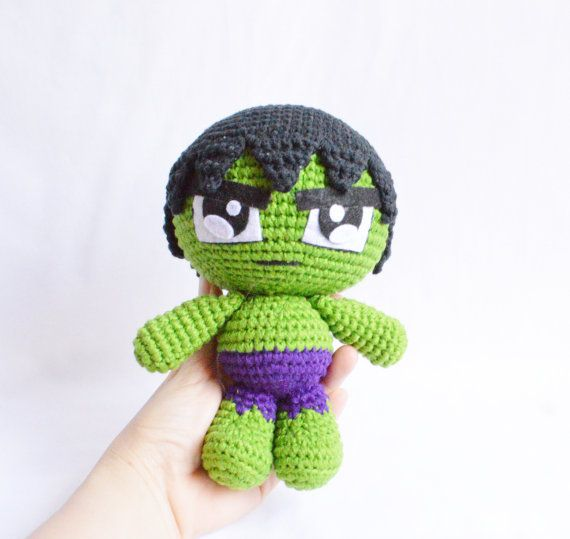 Hulk - Stuffed toys, Crochet, Plushes, Superheroes, Avenger, Baby shower…