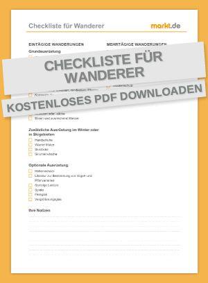 Die kostenlose Checkliste für den perfekten Wanderausflug | markt.de #wandern #checkliste #informationen #ausstattung #zubehör