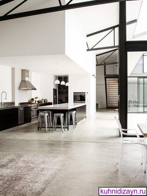 кухня в стиле лофт, кухни лофт фото, кухня в стиле лофт фото, дизайн кухни лофт, стиль лофт в интерьере кухни, дизайн кухни в стиле лофт, пол на кухне