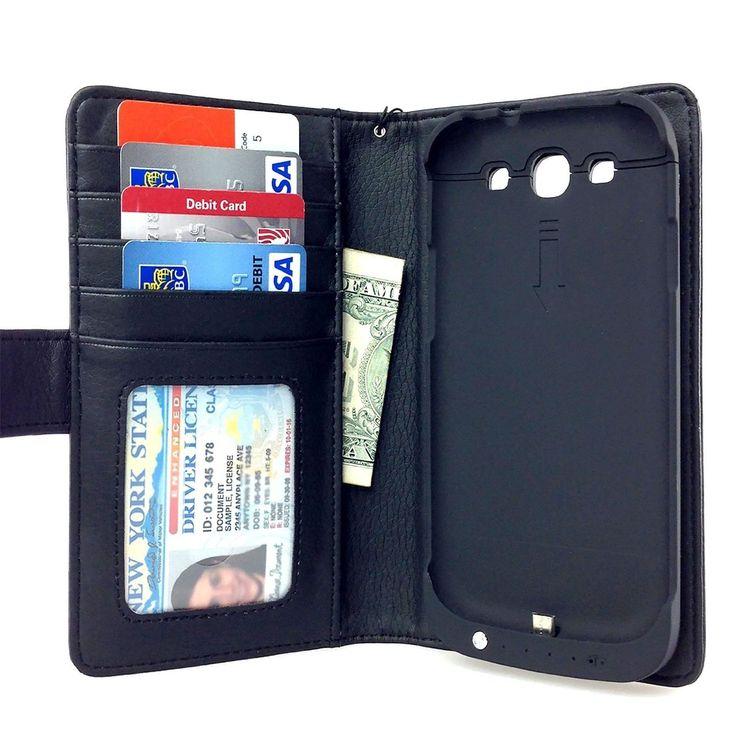 Samsung Galaxy S3 Wallet Power Battery Case 2200 mAh - Navor