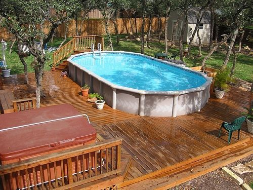 17 best images about hot tub space on pinterest hot tub for Above ground pool decks with hot tub