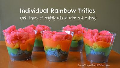 individual rainbow trifles