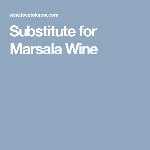 Substitute for Marsala Wine
