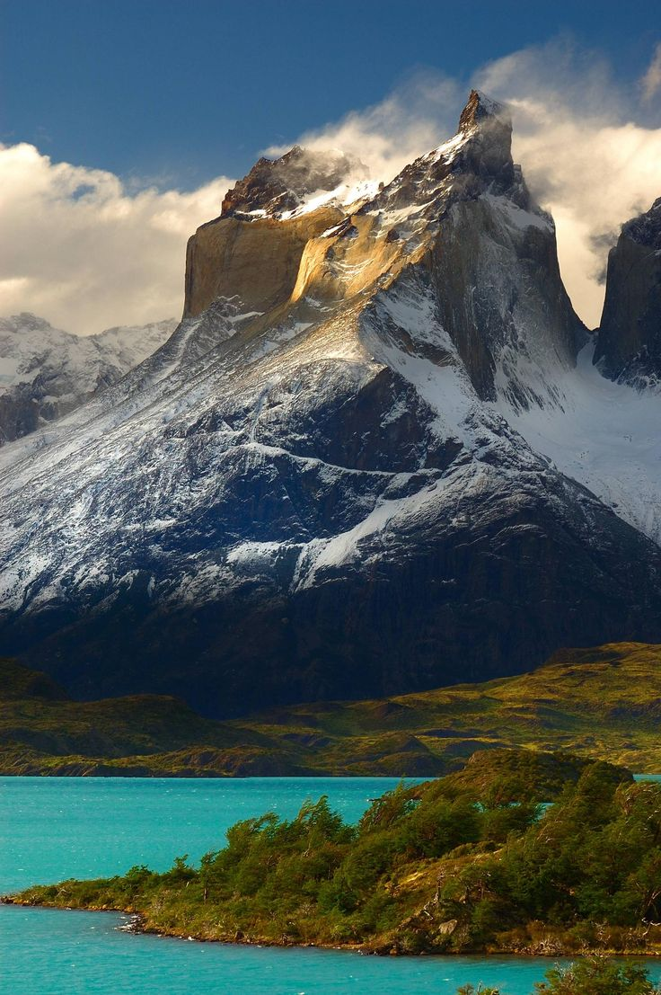Torres del Paine at Lake Pehoe, Patagonia, Chile