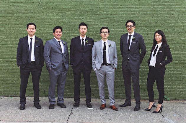 Female Groomsmen - Love that this trend is taking off!   Bridal Musings Wedding Blog