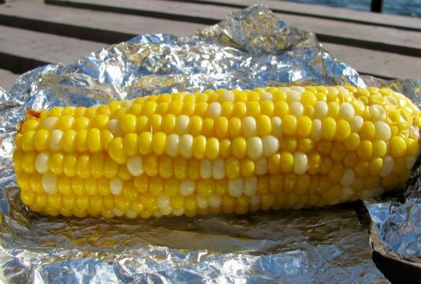 corn on the cob in the oven.
