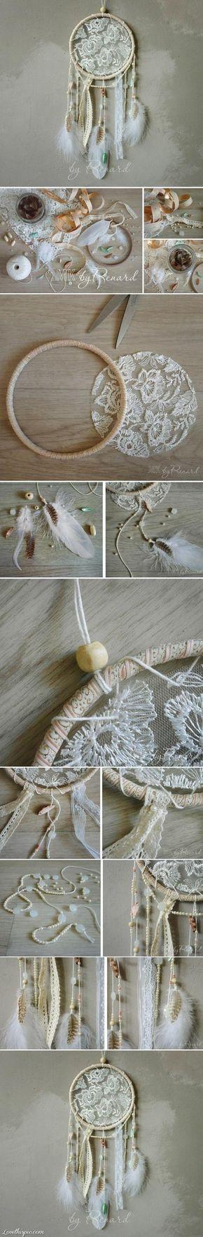 DIY Lace Dream Catcher